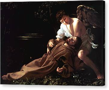 Saint Francis Of Assisi In Ecstasy Canvas Print by Caravaggio