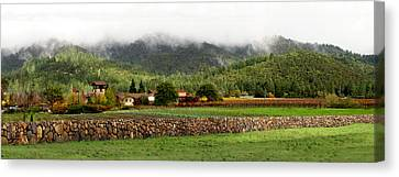 Saint Francis Winery Canvas Print by Stan Angel