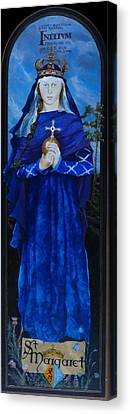 Saint Margaret Of Scotland Canvas Print by Lesly Holliday