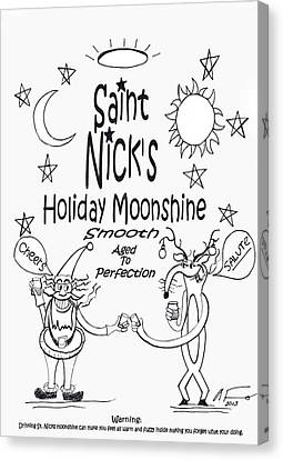 Saint Nicks Holiday Moonshine Canvas Print by Anthony Falbo
