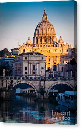 Saint Peter's Dawn Canvas Print by Inge Johnsson