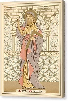 Saint Thomas Canvas Print by English School