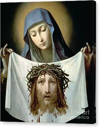 Saint Veronica Canvas Print by Guido Reni