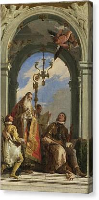 Saints Maximus And Oswald Canvas Print by Giovanni Battista Tiepolo