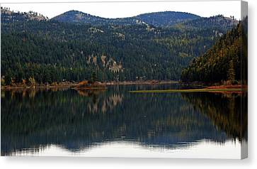 Salam  Lake Canvas Print by Larry Stolle