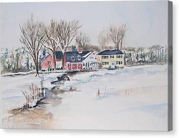 Salem Cross Inn Canvas Print by Michael McGrath