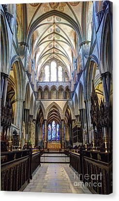 Salisbury Cathedral Canvas Print by Juli Scalzi