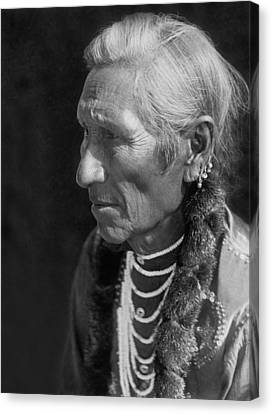 Salish Indian  Circa 1910 Canvas Print by Aged Pixel