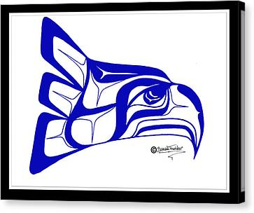 Salish Seahawks Logo Canvas Print by Speakthunder Berry