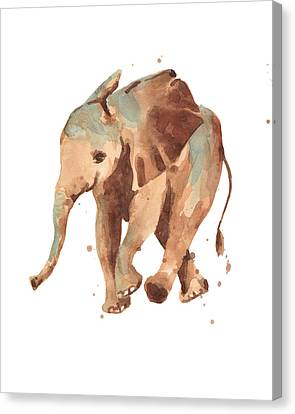 Sally Softly Elephant Canvas Print by Alison Fennell