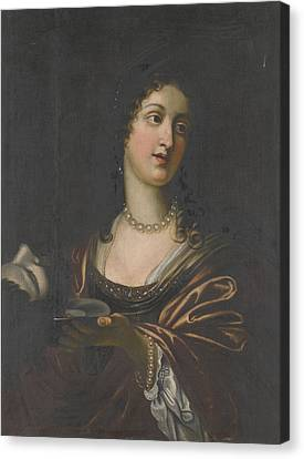 Salome With The Head Of St John The Baptist Canvas Print by Celestial Images