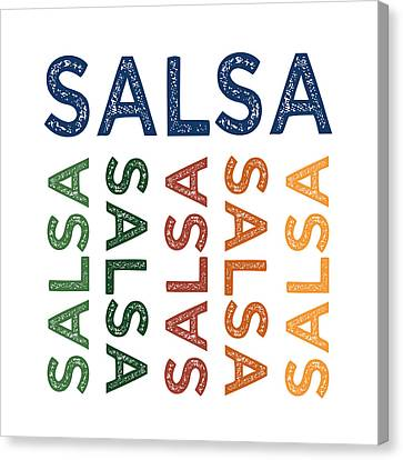 Salsa Cute Colorful Canvas Print by Flo Karp