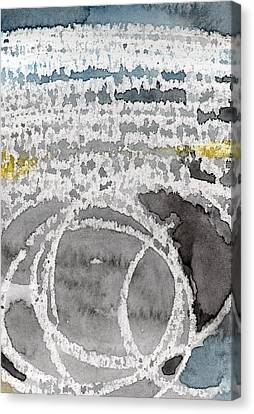 Saltwater- Abstract Painting Canvas Print by Linda Woods