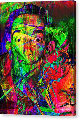 Salvador Dali 20130613 Canvas Print by Wingsdomain Art and Photography