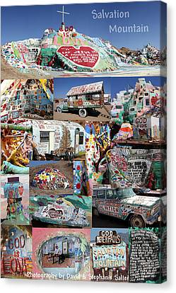 Salvation Mountain Canvas Print by David Salter