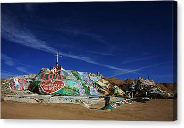 Salvation Mountain Canvas Print by Laurie Search