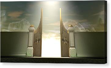 Salvations Open Gates Canvas Print by Allan Swart
