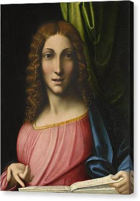 Salvator Mundi Canvas Print by Antonio Allegri Correggio
