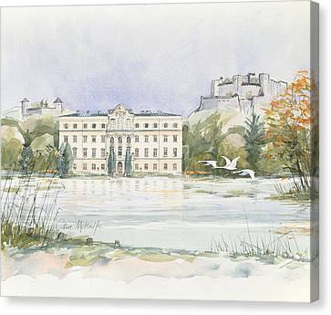 Salzburg Sound Of Music  Canvas Print by Clive Metcalfe