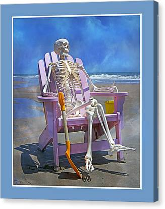 Sam Enjoys The Beach -- Again Canvas Print by Betsy C Knapp
