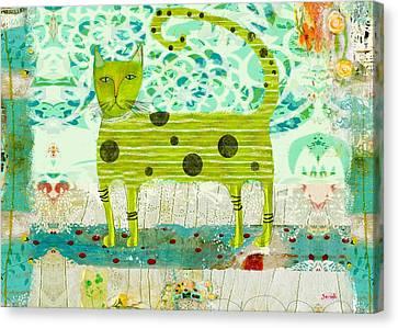 Sam The Cat Canvas Print by Sarah Kiser