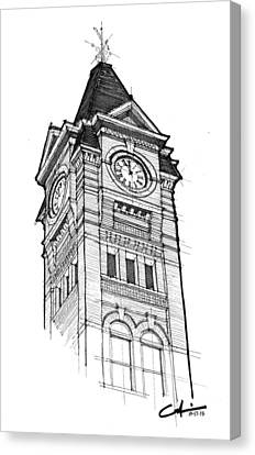 Samford Hall Canvas Print by Calvin Durham