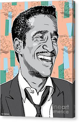 Sammy Davis Jr Pop Art Canvas Print by Jim Zahniser