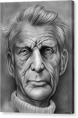 Samuel Beckett Canvas Print by Greg Joens