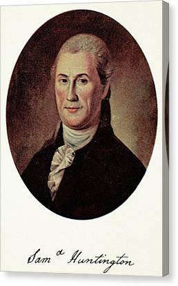 Samuel Huntington (1731-1796) Canvas Print by Granger