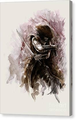 Samurai Monk Canvas Print by Mariusz Szmerdt