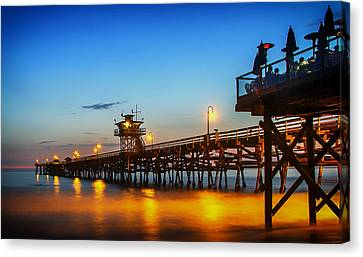 San Clemente Pier At Sunset Canvas Print by Mountain Dreams