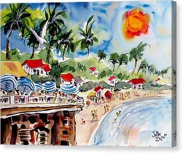 San Clemente Pier View Canvas Print by John Dunn