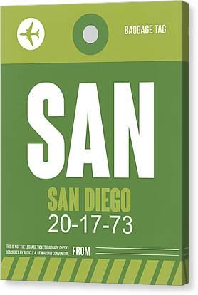 San Diego Airport Poster 2 Canvas Print by Naxart Studio