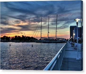 San Diego Bay Sunset 001 Canvas Print by Lance Vaughn