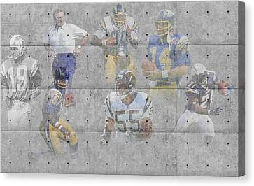 San Diego Chargers Legends Canvas Print by Joe Hamilton