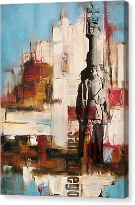 San Diego City Collage 2 Canvas Print by Corporate Art Task Force