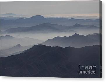 San Diego Hills In Fog And Haze Canvas Print by Darleen Stry