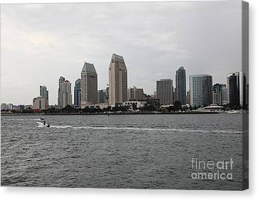 San Diego Skyline 5d24335 Canvas Print by Wingsdomain Art and Photography