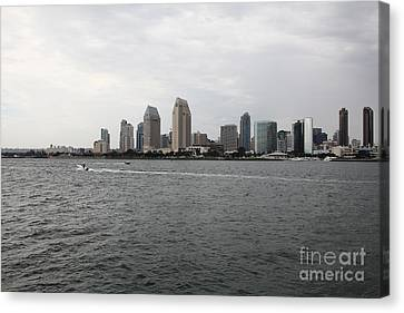 San Diego Skyline 5d24336 Canvas Print by Wingsdomain Art and Photography