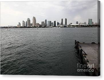 San Diego Skyline 5d24337 Canvas Print by Wingsdomain Art and Photography