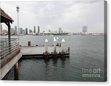 San Diego Skyline 5d24349 Canvas Print by Wingsdomain Art and Photography