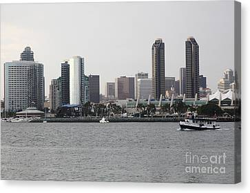San Diego Skyline 5d24380 Canvas Print by Wingsdomain Art and Photography
