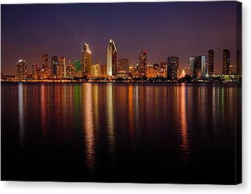 San Diego Skyline Canvas Print by Peter Tellone