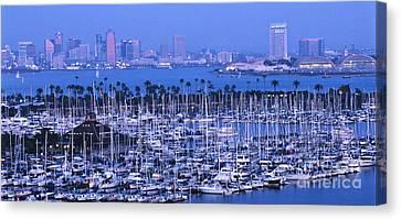 San Diego Twilight Canvas Print by Sandra Bronstein