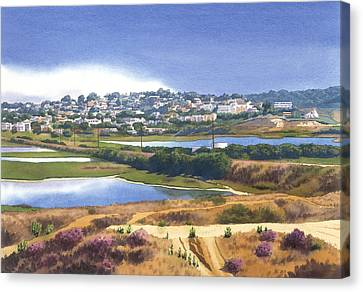 San Elijo And Manchester Ave Canvas Print by Mary Helmreich
