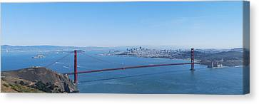 San Francisco And The Golden Gate Bridge Canvas Print by Twenty Two North Photography