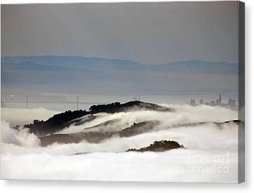 San Francisco Bay Bridge Canvas Print by Juan Romagosa