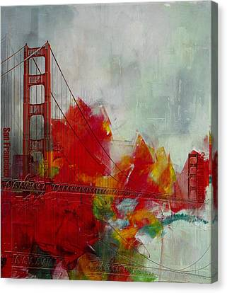 San Francisco City Collage Canvas Print by Corporate Art Task Force