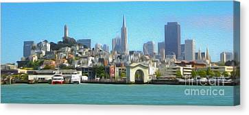 San Francisco - Cityscape - 01 Canvas Print by Gregory Dyer