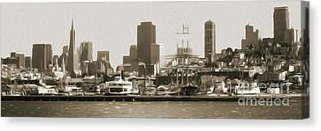 San Francisco - Cityscape - 02 Canvas Print by Gregory Dyer